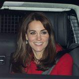 Kate Middleton en el almuerzo en Buckingham Palace por la Navidad 2015