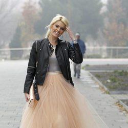 Adriana Abenia, emocionada en su boda con Sergio Abad