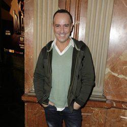 Victor Sandoval en el estreno de 'Iba en serio'