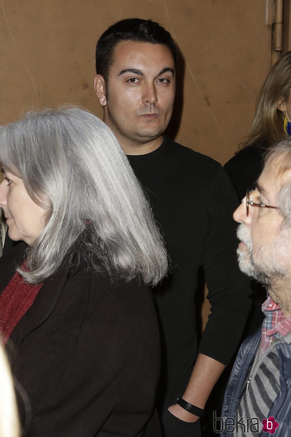 Miguel Marcos en el estreno de 'Iba en serio'