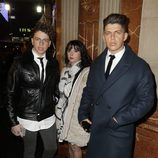 Christopher, María Luisa y Rafa Mateo en el estreno de 'Iba en serio'