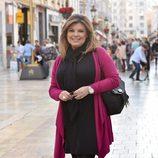 Terelu Campos posa con una sonrisa en Málaga en Navidad 2015