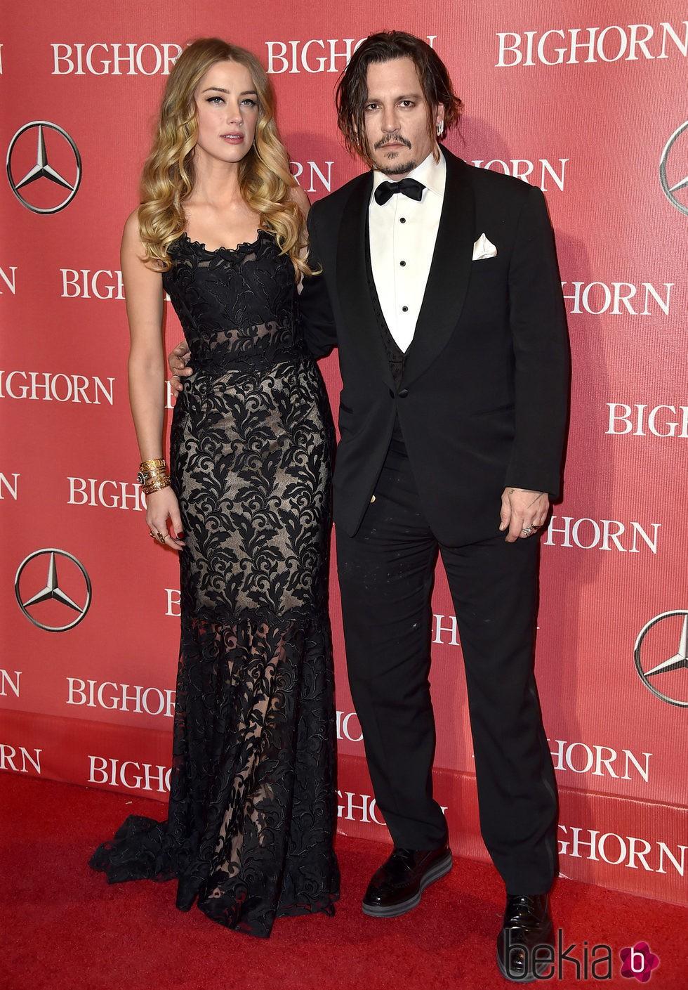 Amber Heard y Johnny Depp en el Festival de Palm Springs 2016