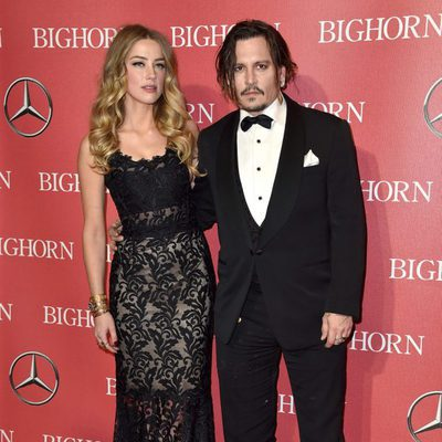 Amber Heard y Johnny Depp en el Festival de Palm Springs 2016