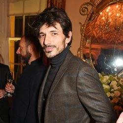 Andrés Velencoso en una fiesta de la London Collections Men en Londres