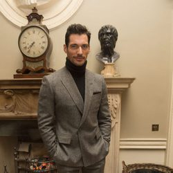 David Gandy en una fiesta de la London Collections Men en Londres