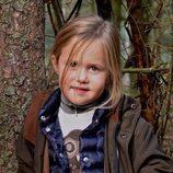 La Princesa Josefina de Dinamarca celebrando su quinto cumpleaños con un posado otoñal