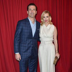 Jon Hamm y January Jones en los Premios AFI 2016