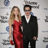 Amber Heard y Johnny Depp en la Gala Heaven 2016