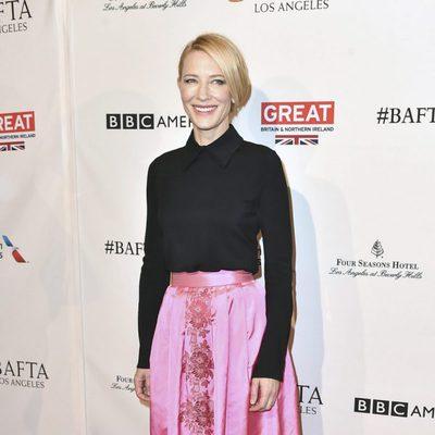 Cate Blanchett en la fiesta de los nominados a los BAFTA 2016 en Los Angeles
