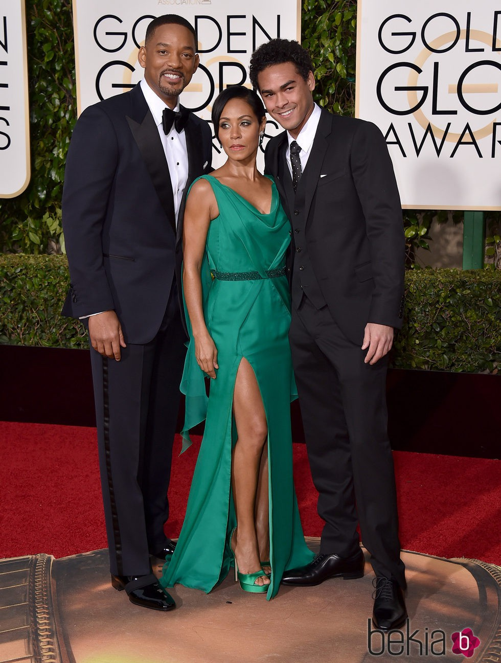 Will Smith, Jada Pinkett Smith y Trey Smith en la alfombra ...