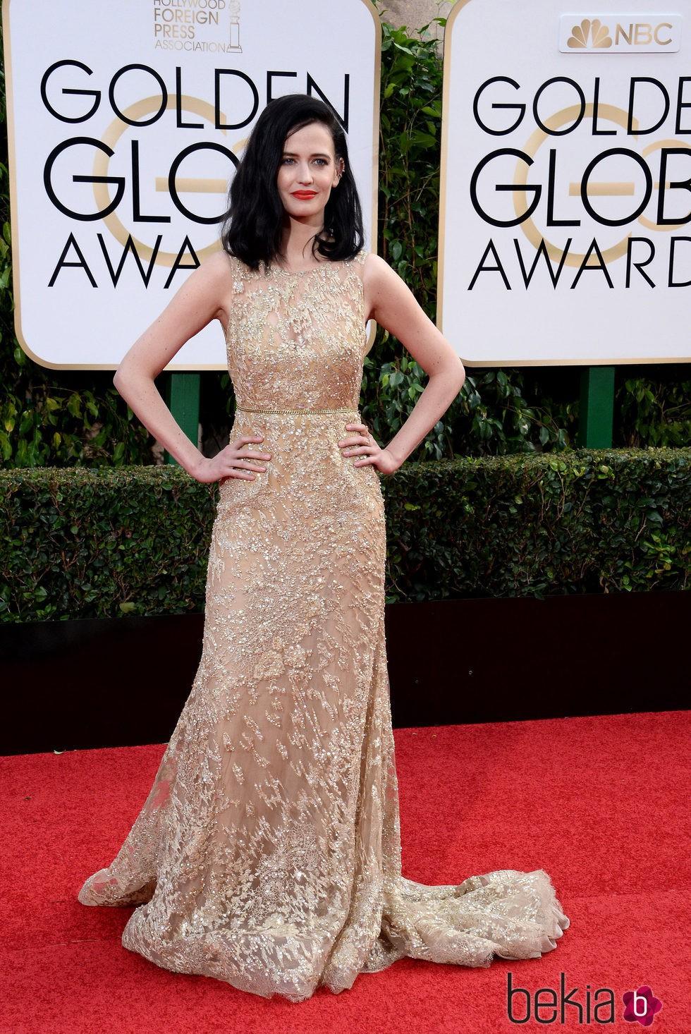 Eva Green en la alfombra roja de los Globos de Oro 2016