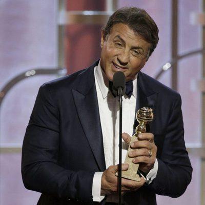Sylvester Stallone agradeciendo su premio en los Globos de Oro 2016
