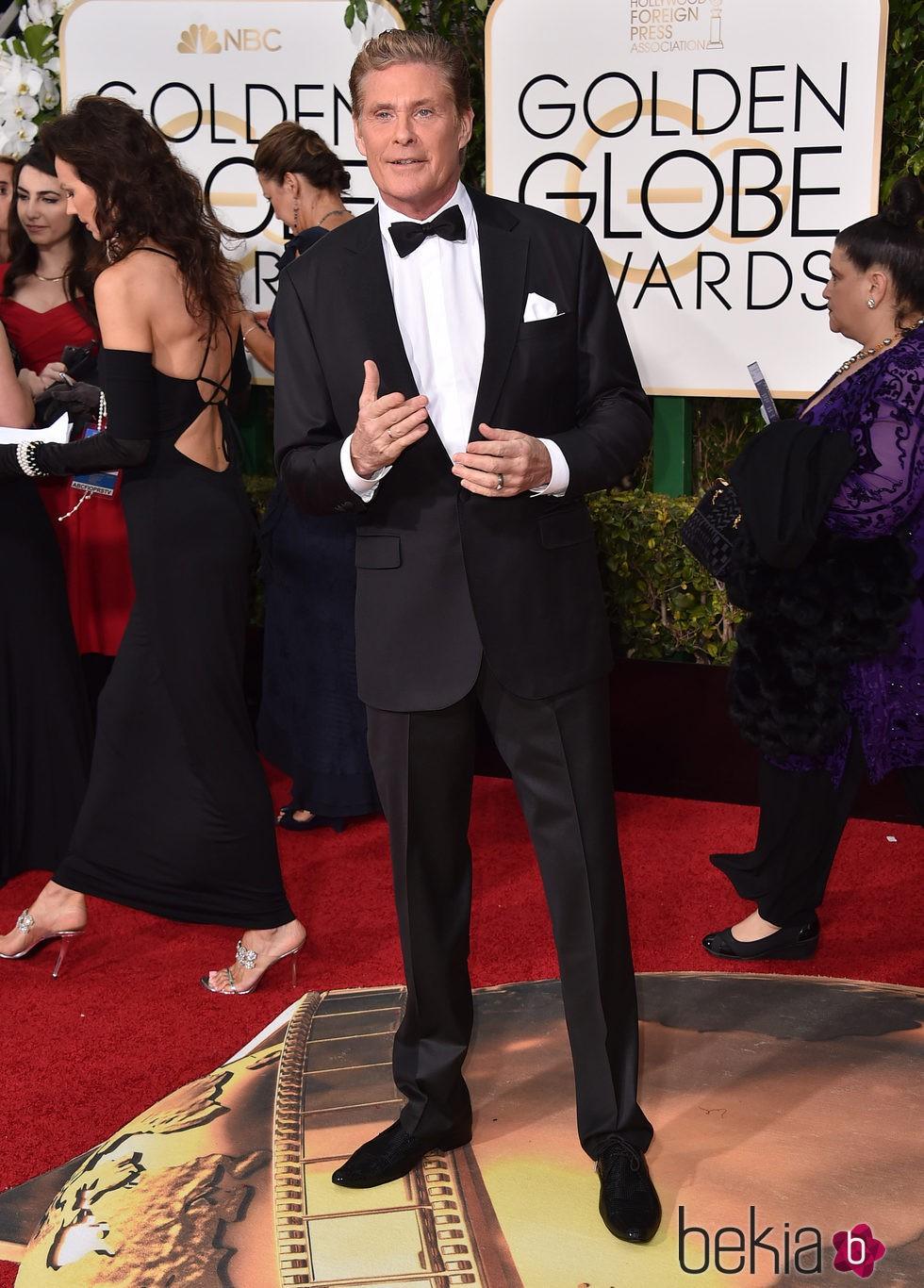 David Hasselhoff en la alfombra roja de los Globos de Oro 2016