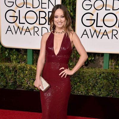 Olivia Wilde en la alfombra roja de los Globos de Oro 2016
