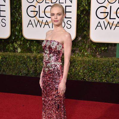 Kate Bosworth en la alfombra roja de los Globos de Oro 2016