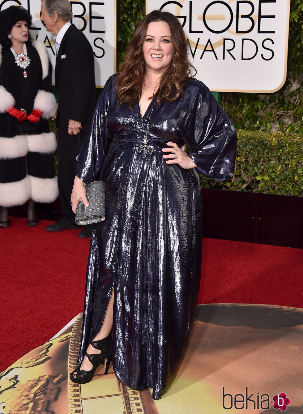 Melissa McCarthy en la alfombra roja de los Globos de Oro 2016