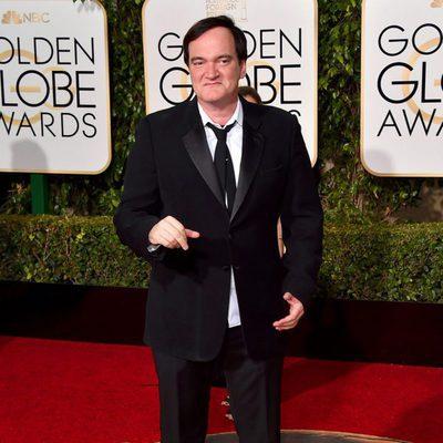 Quentin Tarantino en la alfombra roja de los Globos de Oro 2016