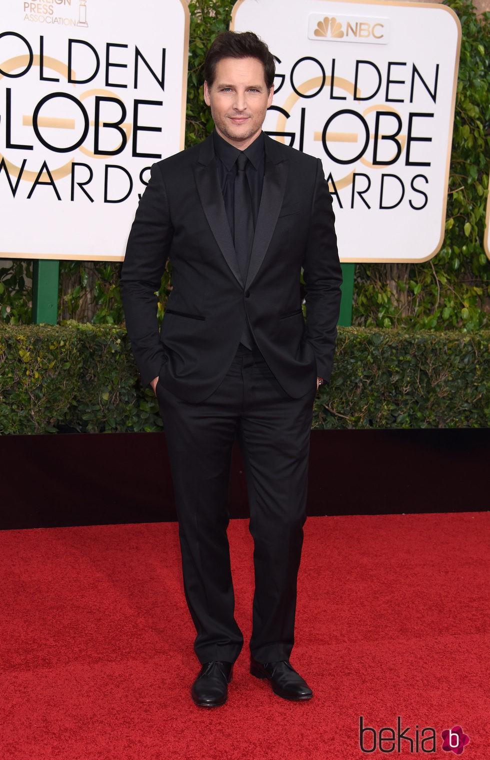 Peter Facinelli  en la alfombra roja de los Globos de Oro 2016