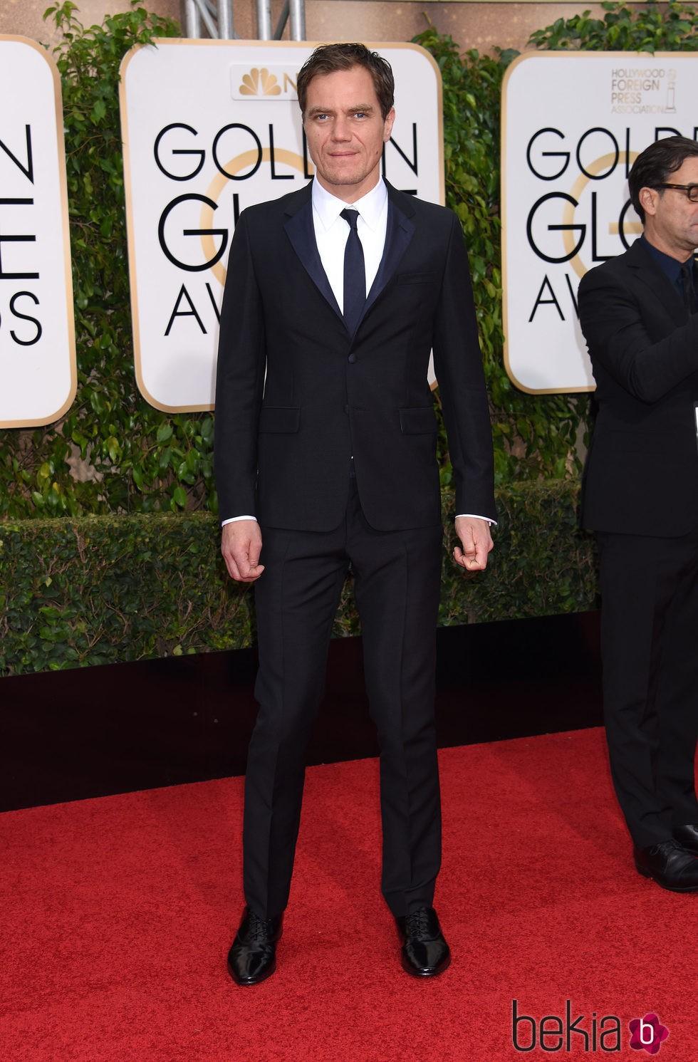 Michael Shannon en la alfombra roja de los Globos de Oro 2016