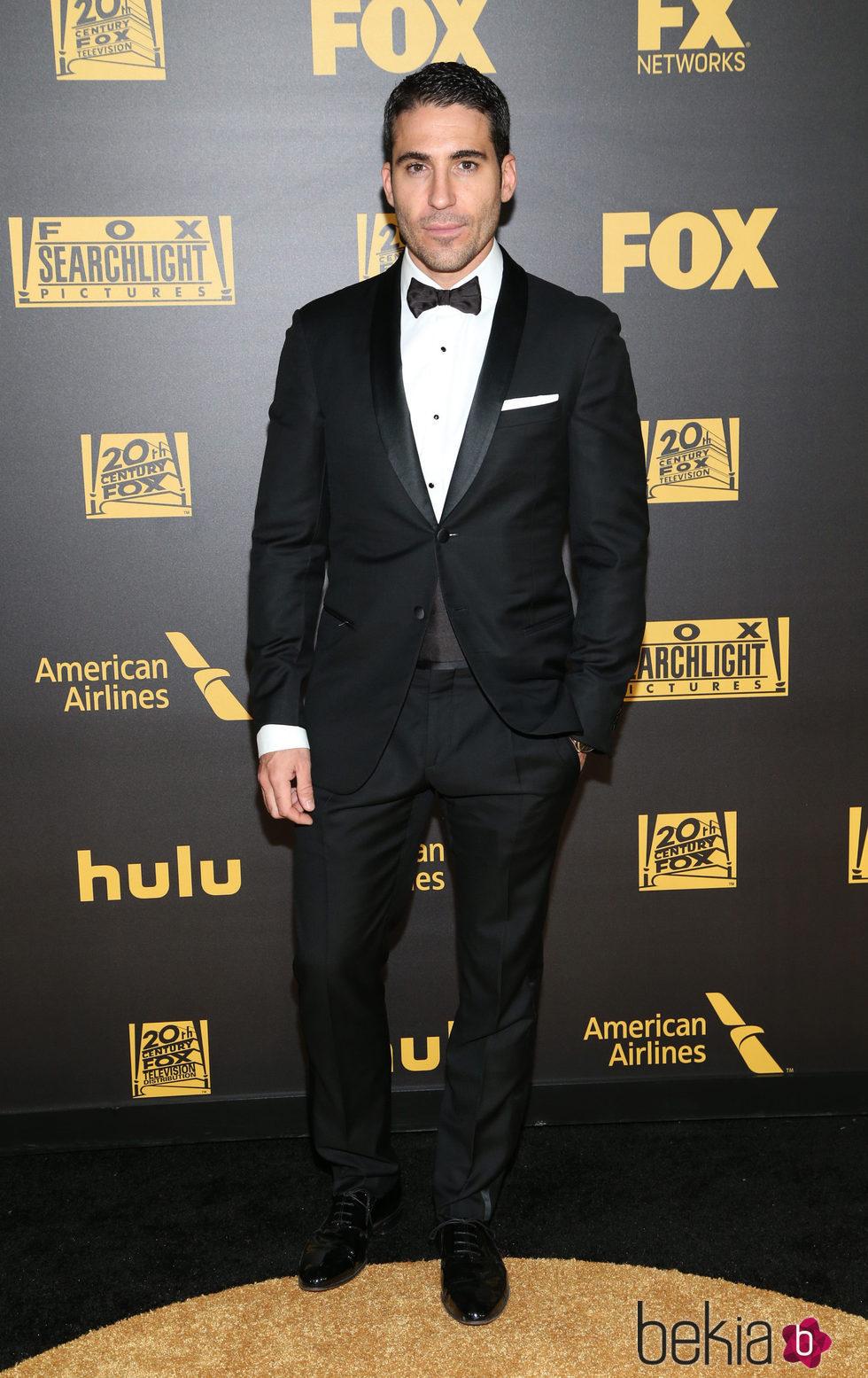 Miguel Ángel Silvestre en la fiesta de FOX tras los Globos de Oro 2016