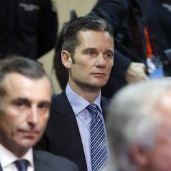 Iñaki Urdangarín en el interior del juicio por el Caso Nóos