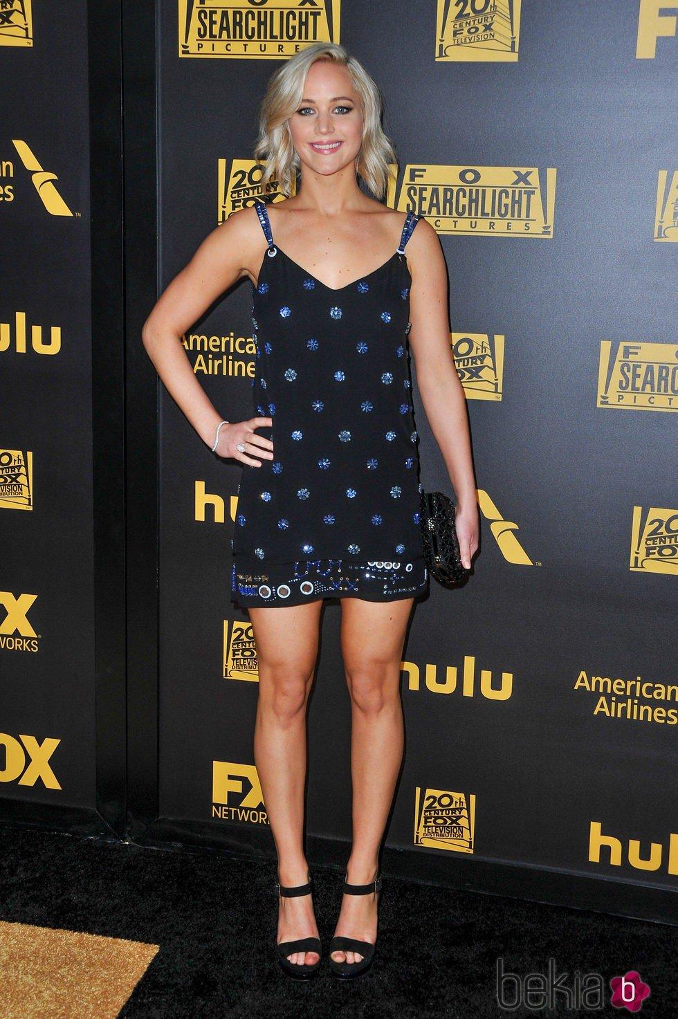 Jennifer Lawrence en la fiesta de FOX tras los Globos de Oro 2016