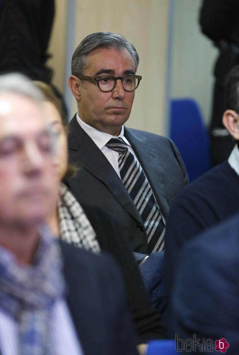 Diego Torres en el banquillo de los acusados en el juicio por el Caso Nóos
