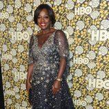 Viola Davis en la fiesta de HBO tras la entrega de los Globos de Oro 2016