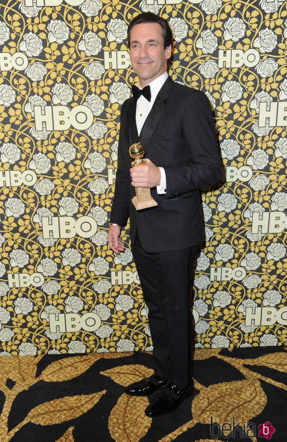 Jon Hamm en la fiesta de HBO tras la entrega de los Globos de Oro 2016