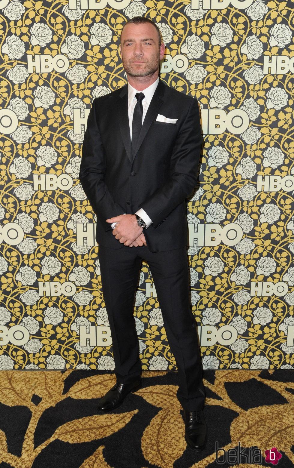 Liev Schreiber en la fiesta de HBO tras la entrega de los Globos de Oro 2016