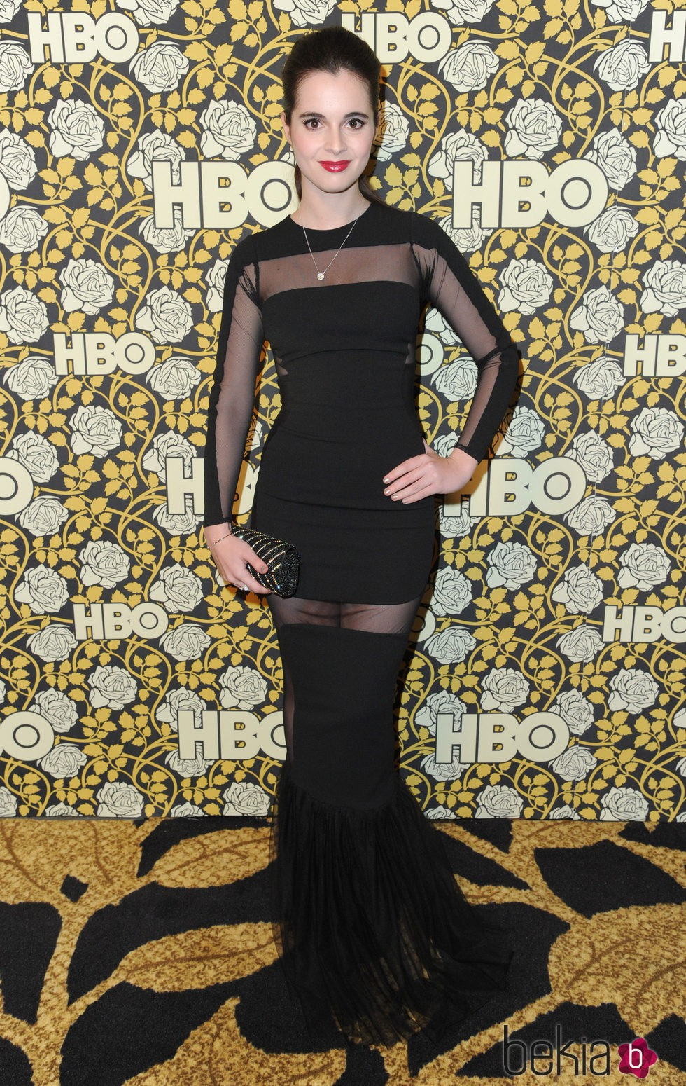 Vanessa Marano en la fiesta de HBO tras la entrega de los Globos de Oro 2016