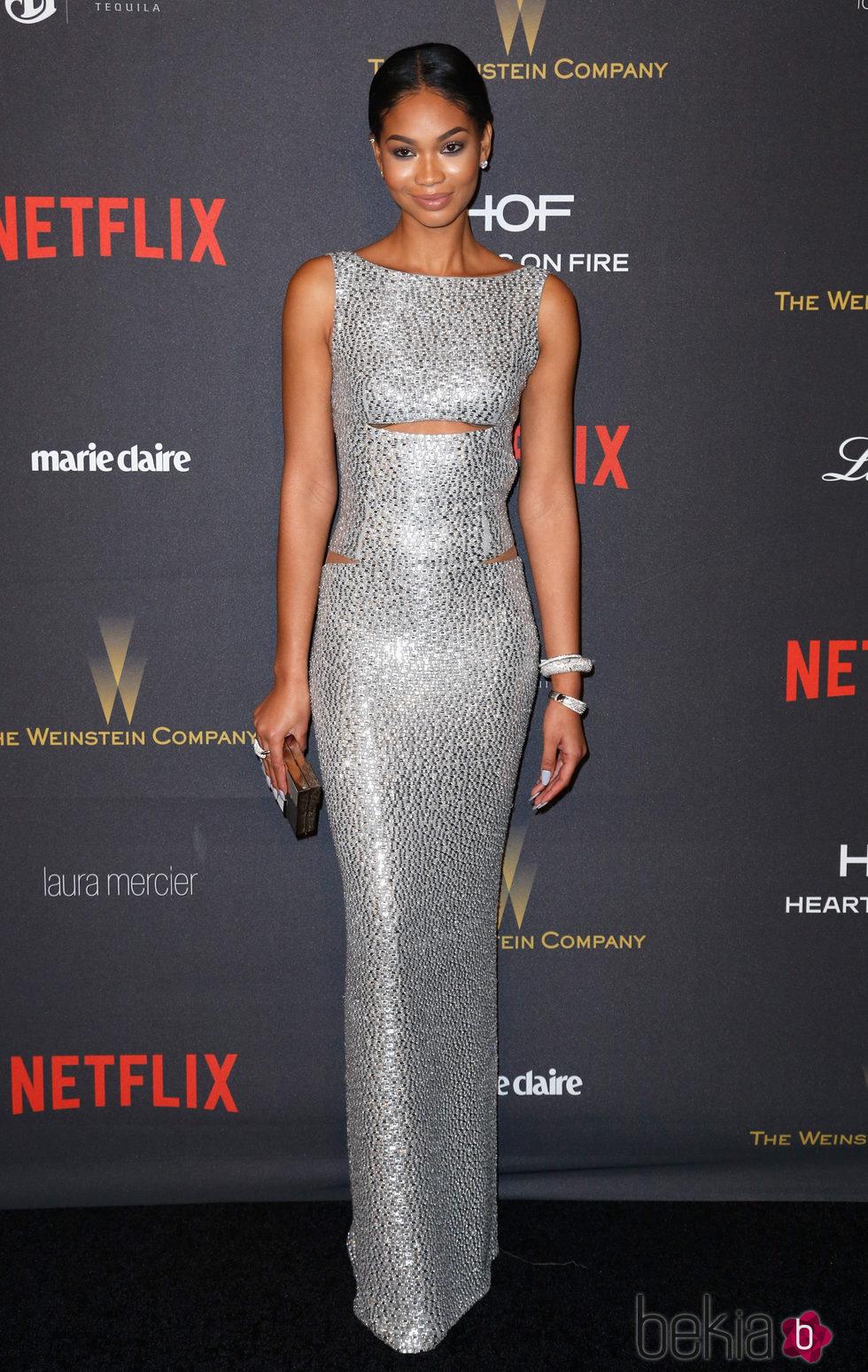 Chanel Iman en la fiesta de Netflix tras la entrega de los Globos de Oro 2016