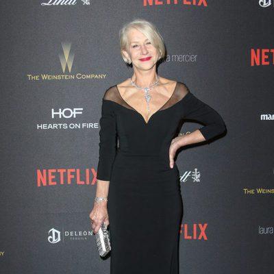 Helen Mirren en la fiesta de Netflix tras la entrega de los Globos de Oro 2016