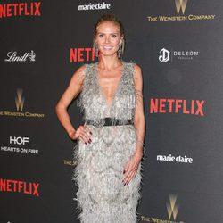 Heidi Klum en la fiesta de Netflix tras la entrega de los Globos de Oro 2016