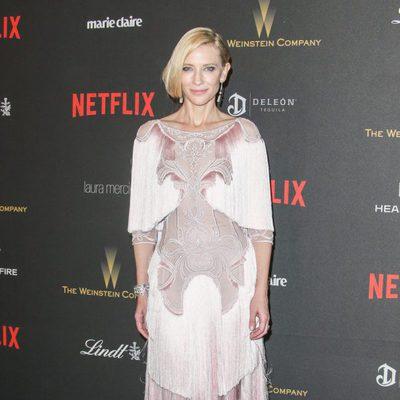 Cate Blanchett en la fiesta de Netflix tras la entrega de los Globos de Oro 2016