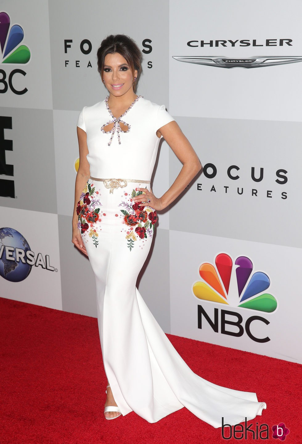 Eva Longoria en la fiesta de NBC tras la entrega de los Globos de Oro 2016