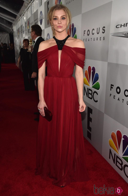 Natalie Dormer en la fiesta de NBC tras la entrega de los Globos de Oro 2016