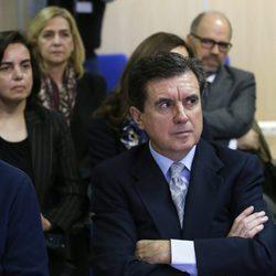 Jaume Matas en el banquillo de los acusados en el juicio por el Caso Nóos