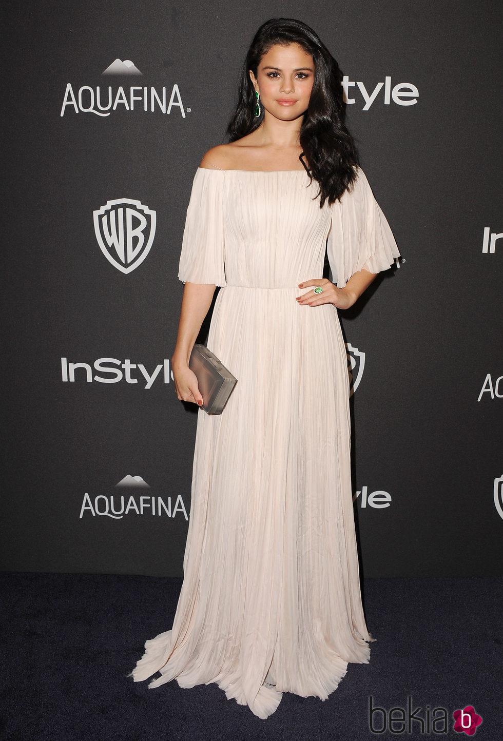 Selena Gomez en la fiesta de InStyle tras la entrega de los Globos de Oro 2016