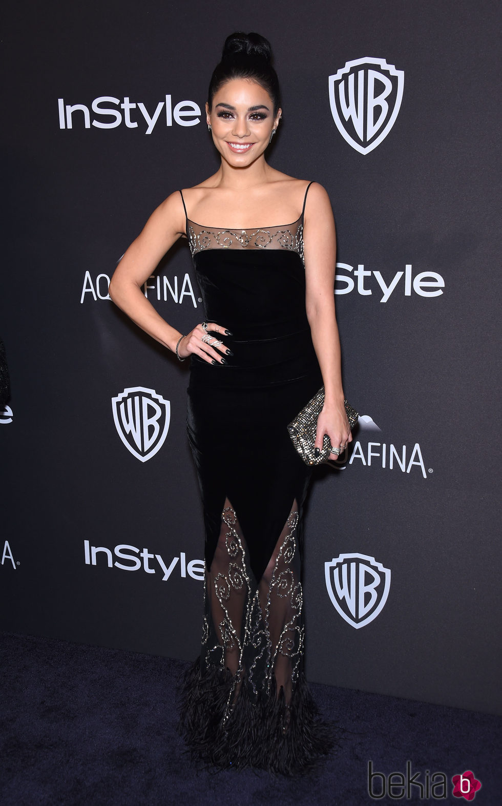 Vanessa Hudgens en la fiesta de InStyle tras la entrega de los Globos de Oro 2016