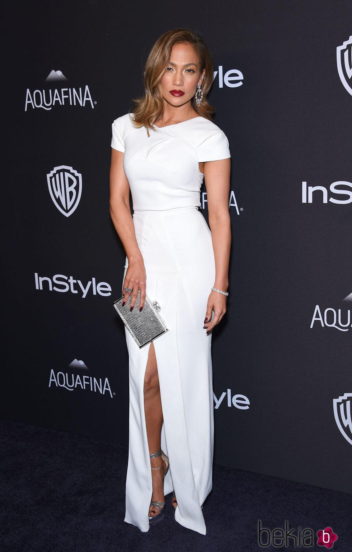 Jennifer Lopez en la fiesta de InStyle tras la entrega de los Globos de Oro 2016