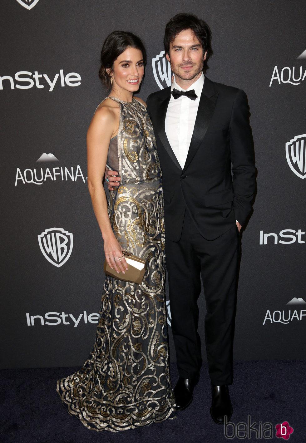 Ian Somerhalder y Nikki Reed en la fiesta de InStyle tras la entrega de los Globos de Oro 2016