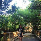 Paula Echevarría en Jungle Island en Miami