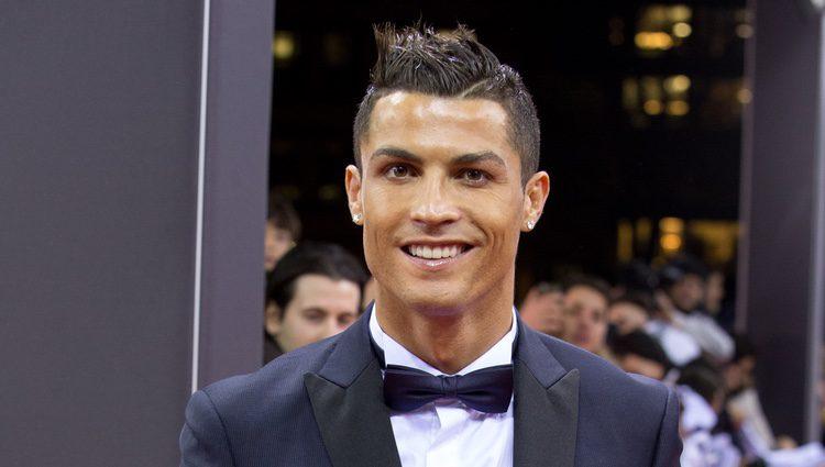Cristiano Ronaldo en la entrega del Balón de Oro 2015