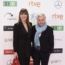 Mabel Lozano y su marido Eduardo Campoy en los Premios José María Forqué 2016