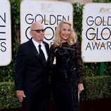 Rupert Murdoch y Jerry Hall en los Globos de Oro 2016