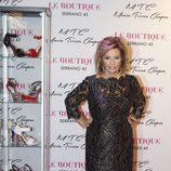María Teresa Campos en la presentación de su colección de zapatos