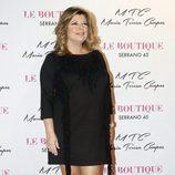Terelu Campos en la presentación de la colección de zapatos de María Teresa Campos