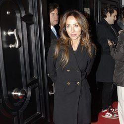 María Patiño en la presentación de la colección de zapatos de María Teresa Campos